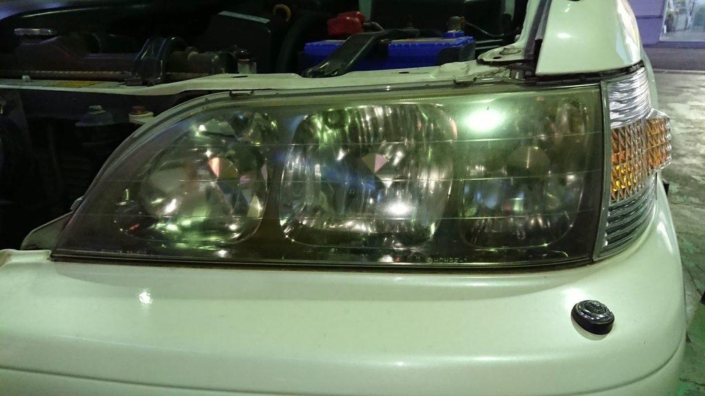 「改造RSE」+「BLT水性コンパウンド、バフ」でヘッドライト磨きをしてみた!!